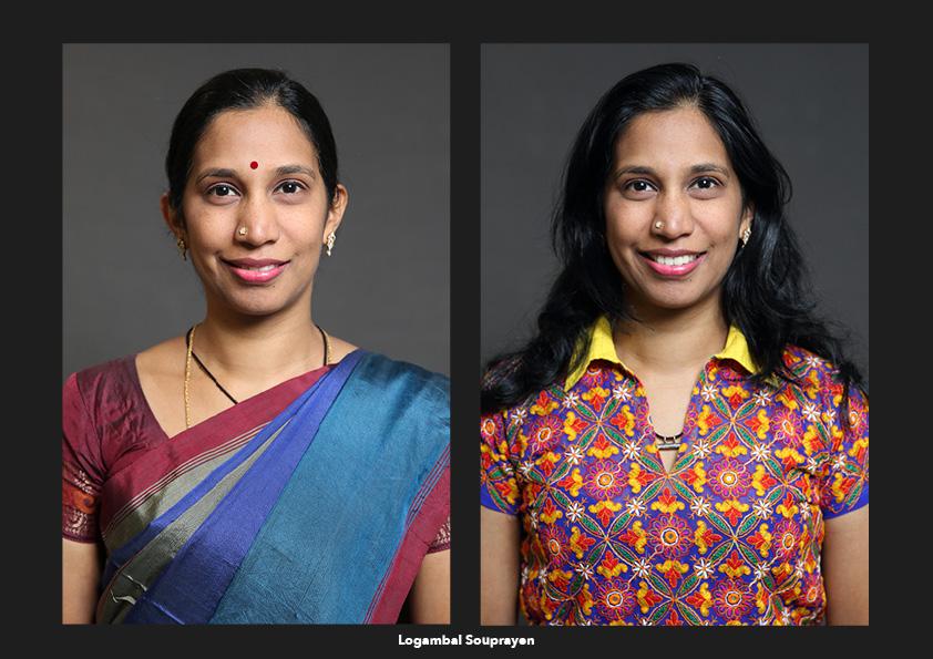 Logambal Souprayen / La Réunion Origines: Le sari, les cheveux attachés, le point rouge sur le front symbolisent mon attachement à mon origine indienne. Identités: Une femme réunionnaise moderne tournée vers l'avenir, avec une ouverture d'esprit et qui a des origines indiennes. Je porte une tenue moderne, contemporaine fabriquée avec un tissu indien.
